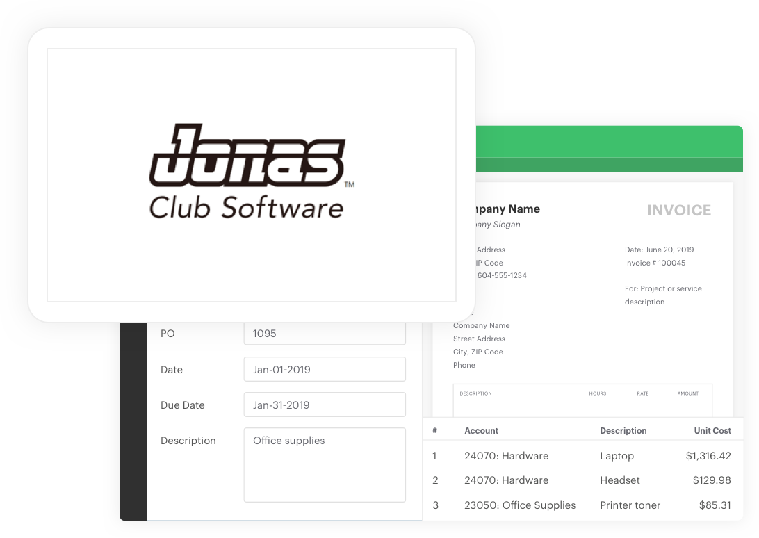 Jonas Club Software Integration