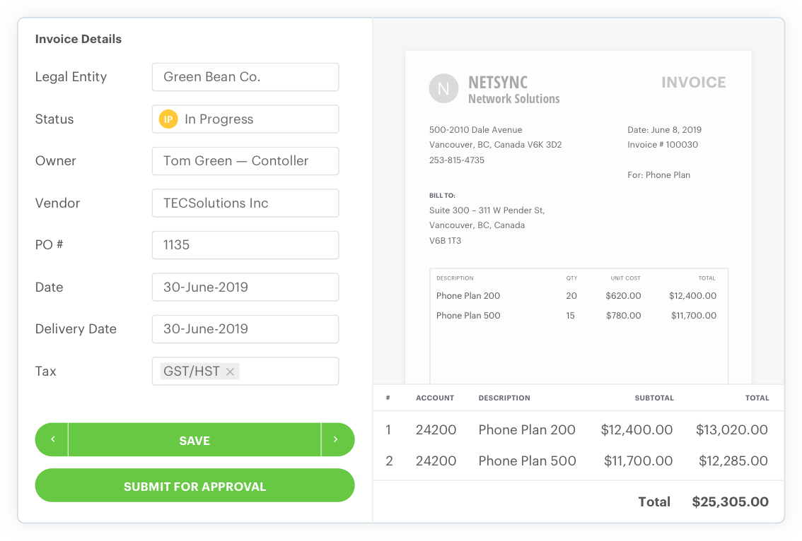 Code invoices with one click