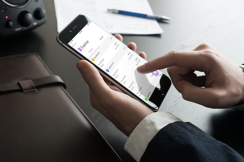 expense management on mobile