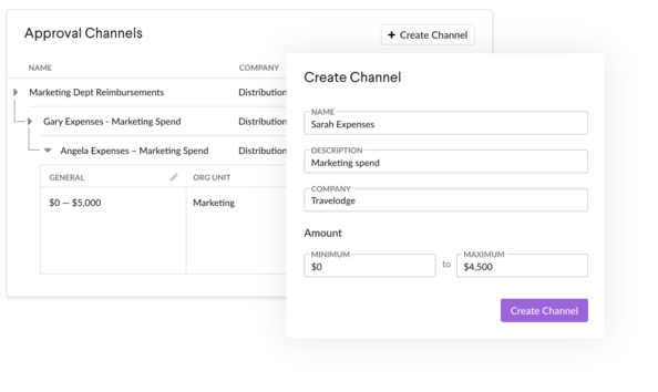 Expense Approval Channel