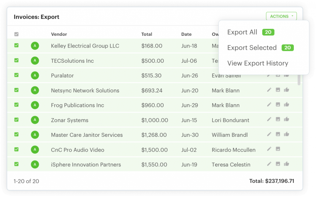 sync to your accounting system